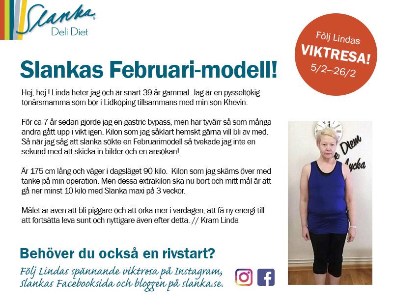 Möt Linda -Slankas Februarimodell
