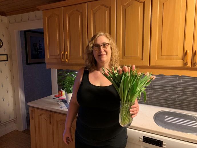 Nu har jag gått ner -7,7 kg, det firar jag med blommor