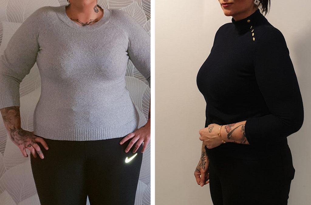 Helena imponerar med -26 kg, gruppen med -68,8 kg. Häng på du också med Slanka-dieten!