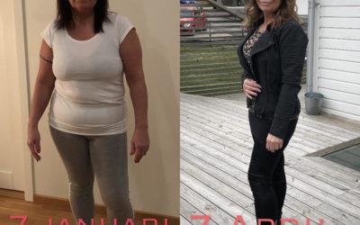 Jag går i mål 16,4 kg lättare med Slanka – vilken underbar känsla